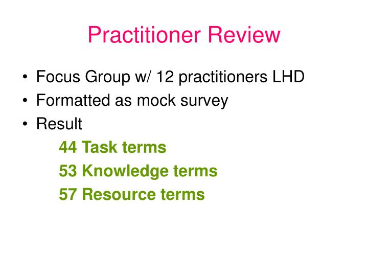 Practitioner Review