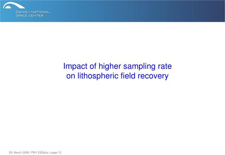 Impact of higher sampling rate
