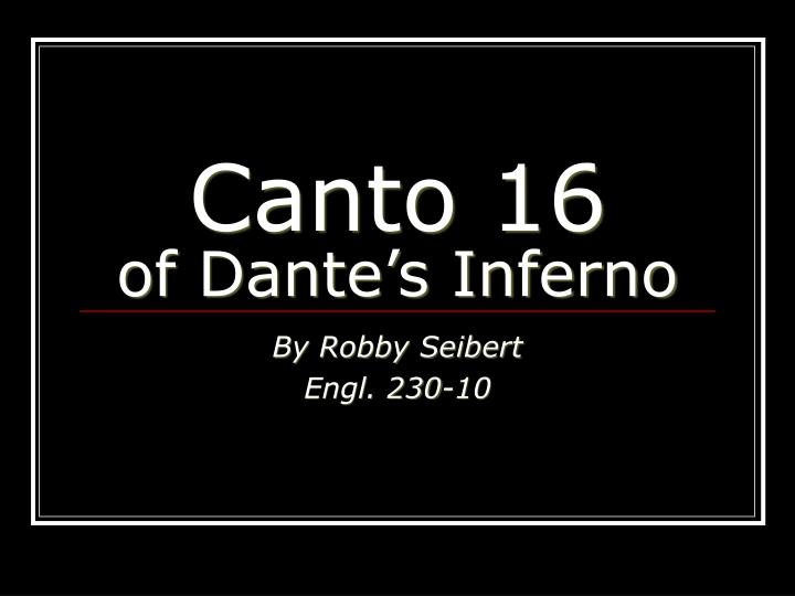 canto 16 of dante s inferno n.