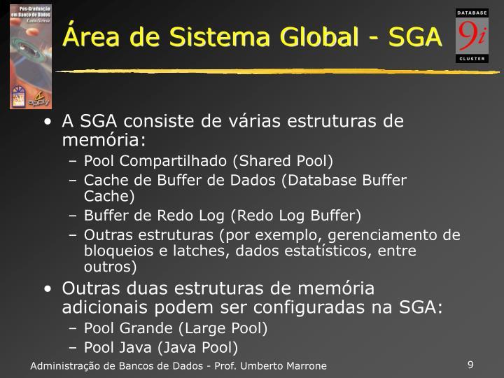Área de Sistema Global - SGA