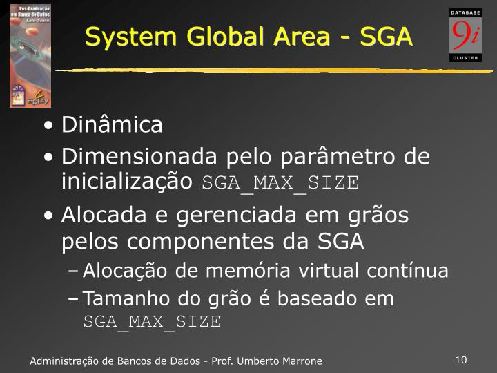 System Global Area - SGA
