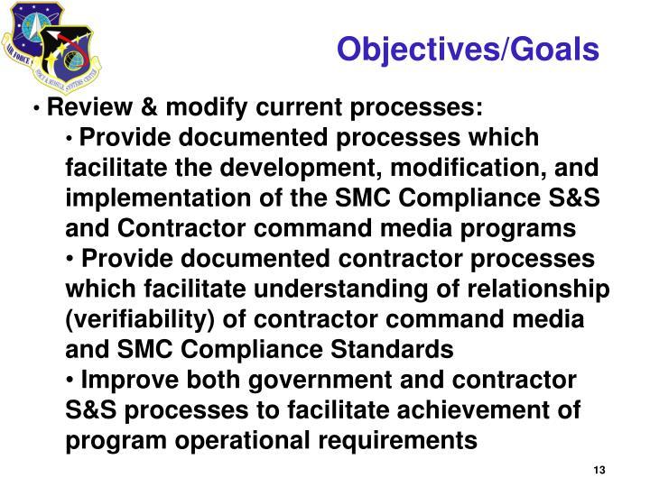 Objectives/Goals