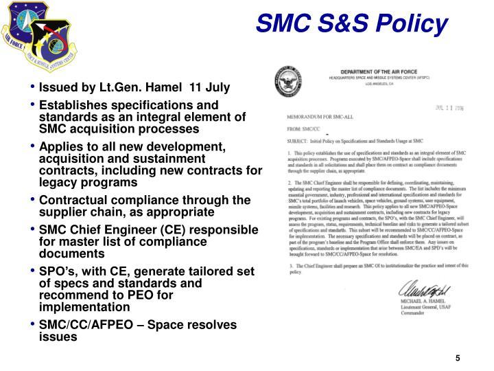SMC S&S Policy