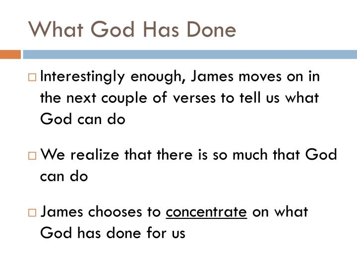 What god has done2
