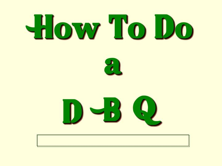 how to do a dbq part