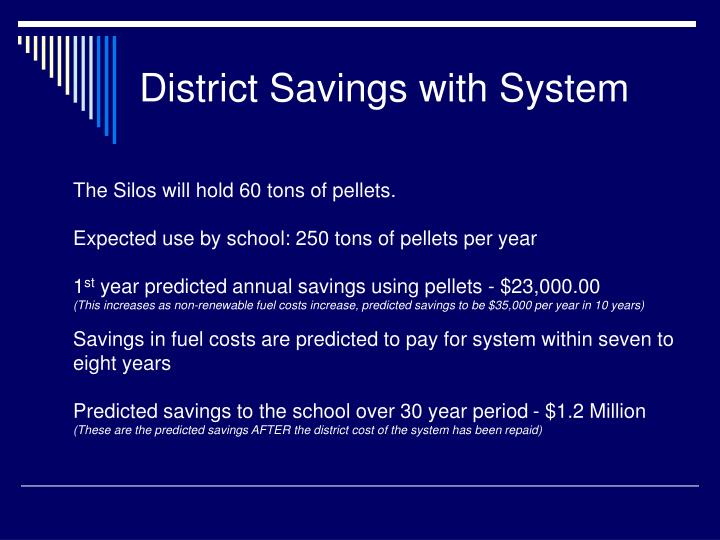 District Savings with System