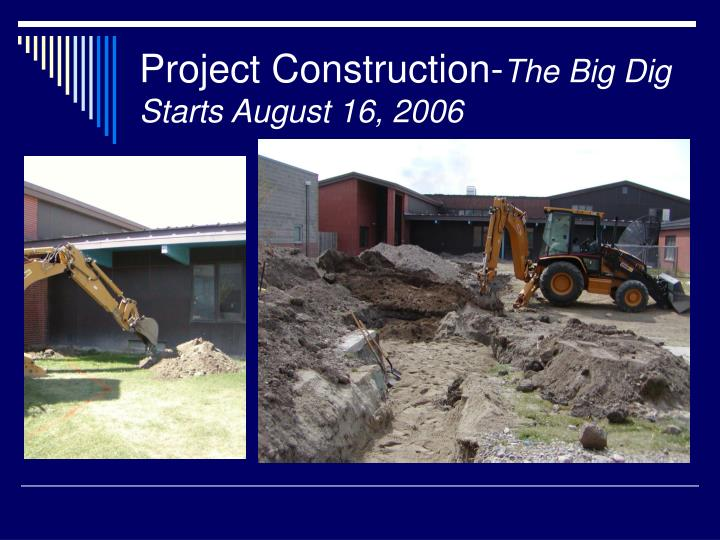 Project construction the big dig starts august 16 2006