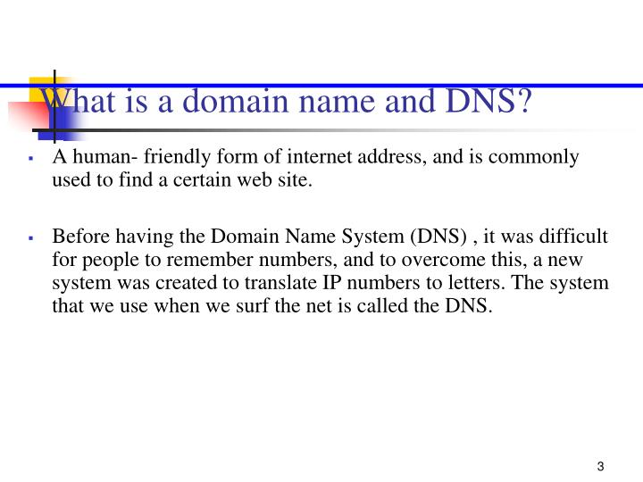 What is a domain name and dns