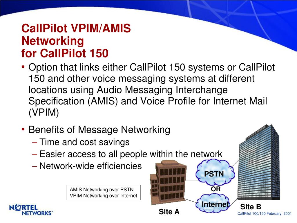 PPT - CallPilot 100 & CallPilot 150 Voice Messaging Solutions for
