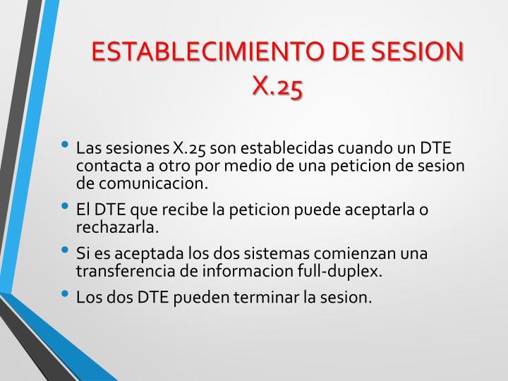 ESTABLECIMIENTO DE SESION X.25
