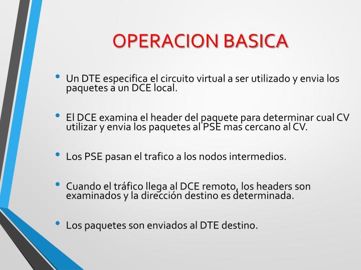 OPERACION BASICA