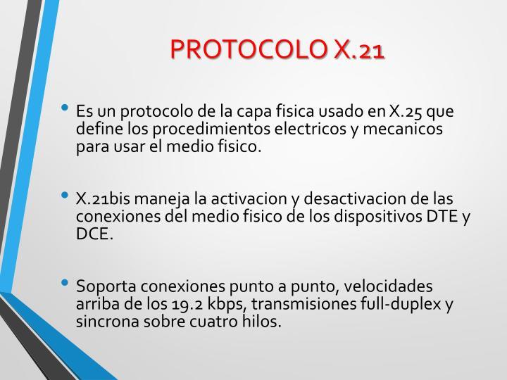 PROTOCOLO X.21