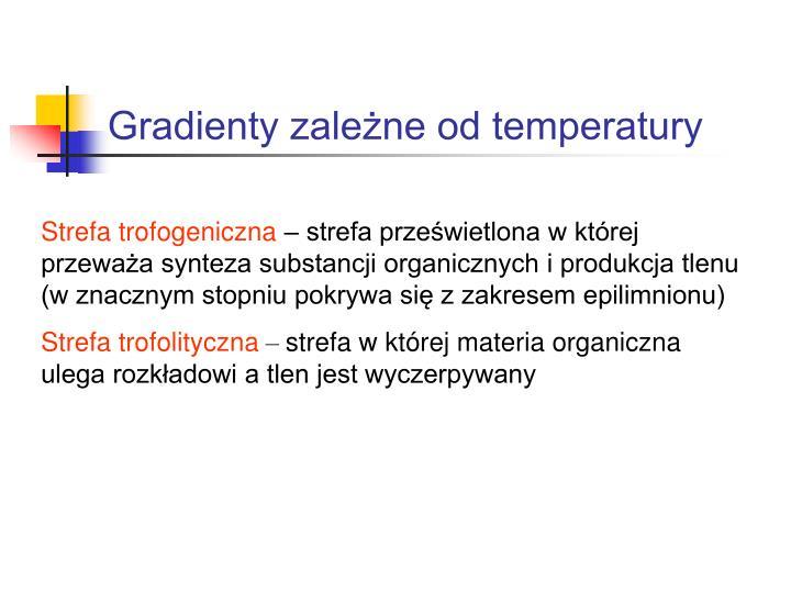 Gradienty zależne od temperatury