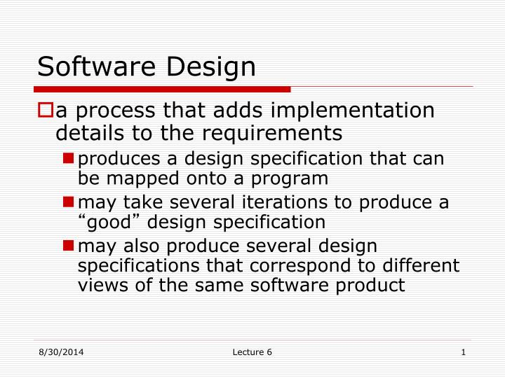 Ppt Software Design Powerpoint Presentation Free Download Id 3694853