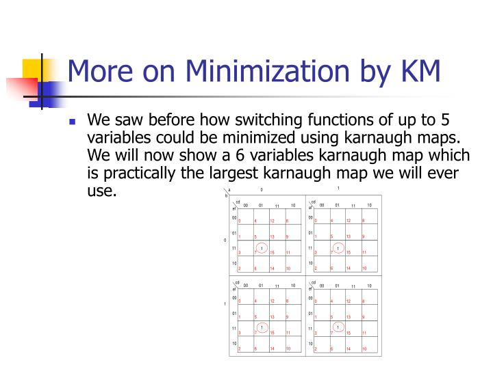 More on Minimization by KM