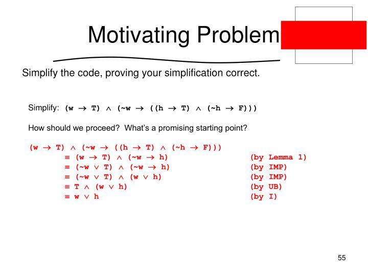 Motivating Problem