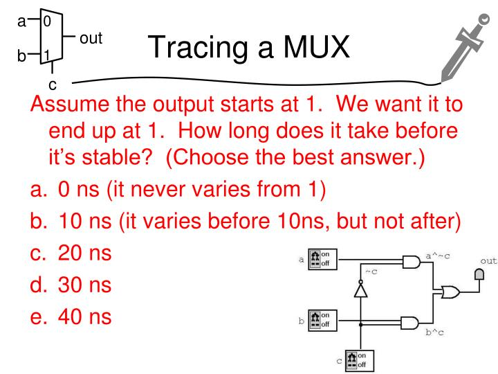 Tracing a MUX