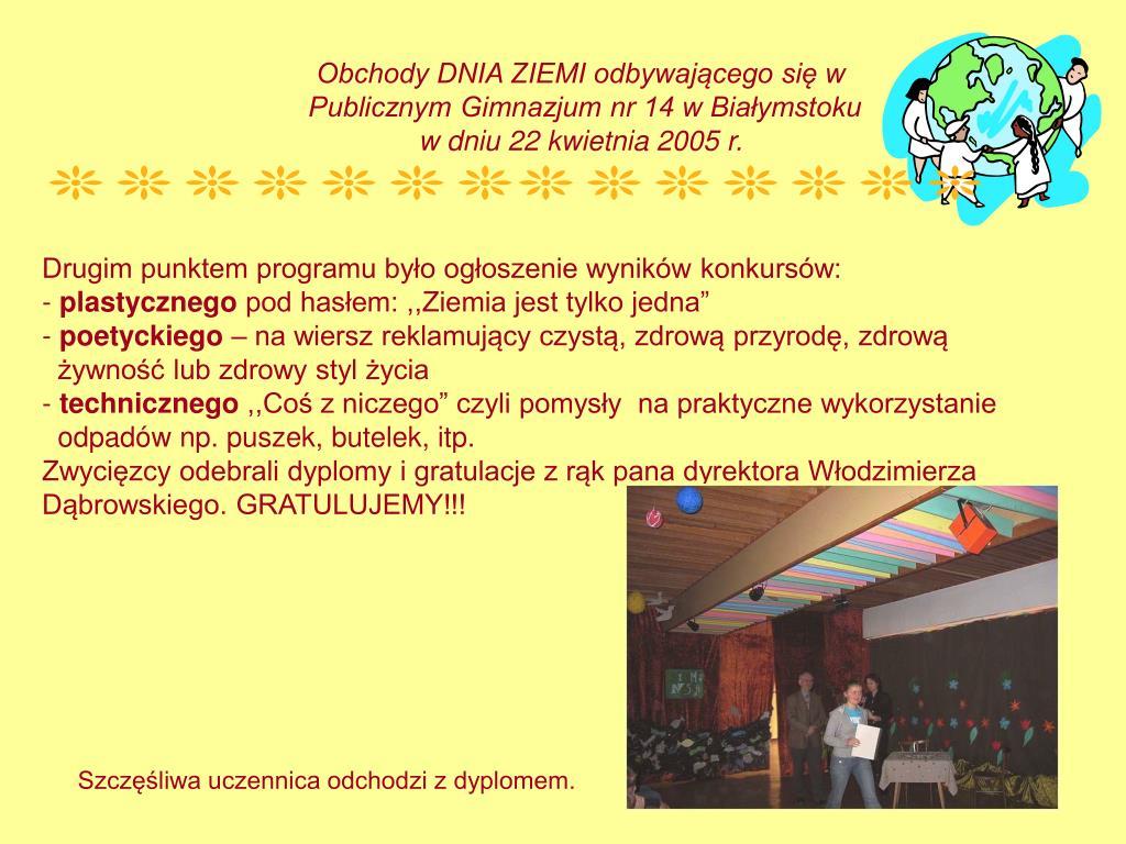 Ppt Dzień Ziemi W Pg Nr 14 Powerpoint Presentation Id