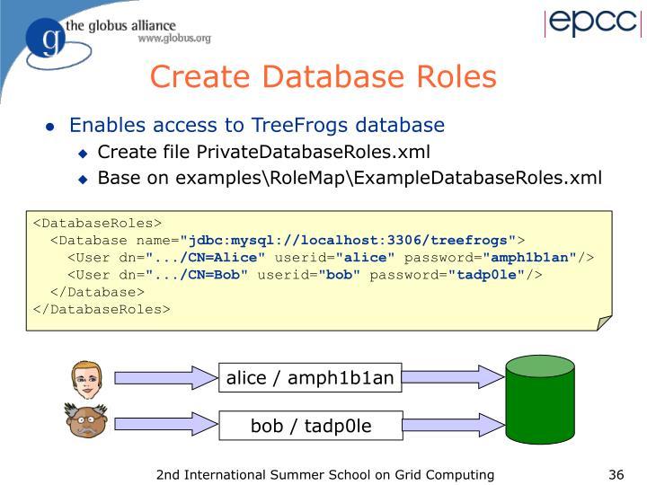 Create Database Roles