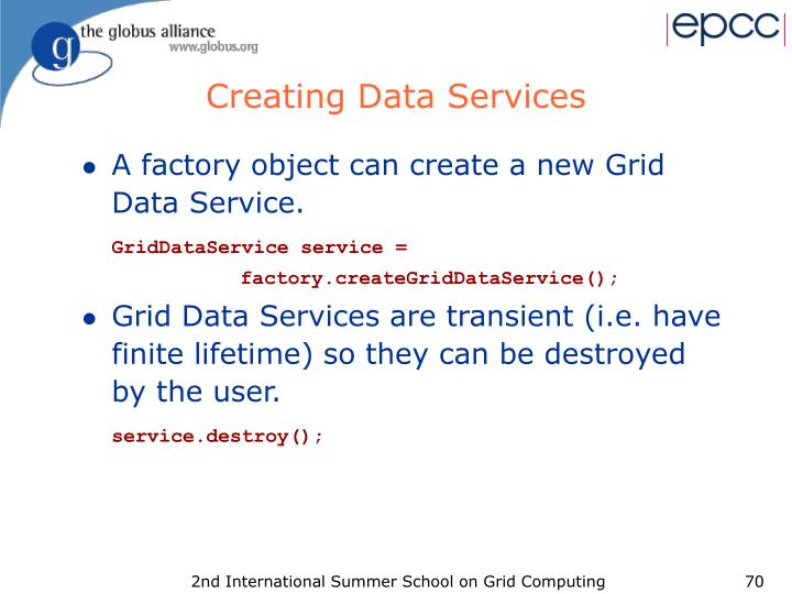 Creating Data Services