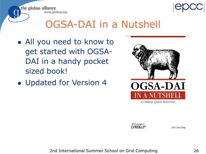OGSA-DAI in a Nutshell