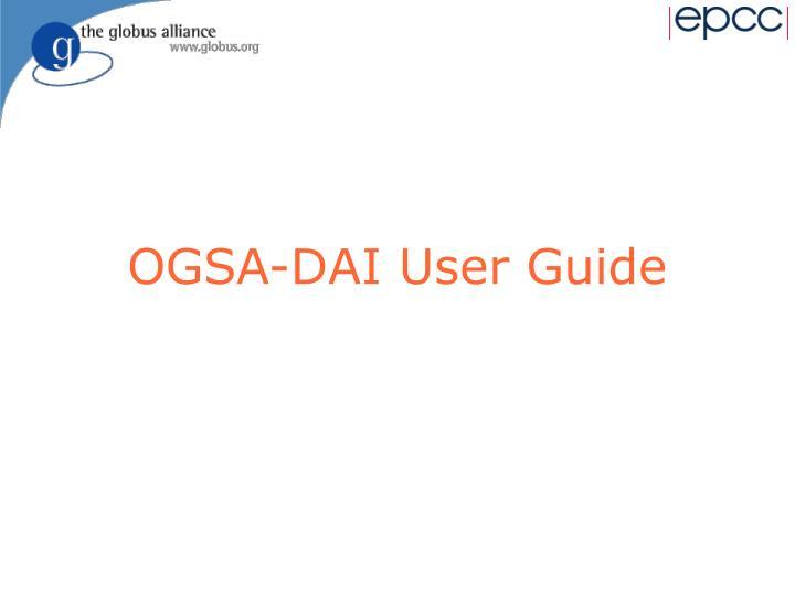 OGSA-DAI User Guide