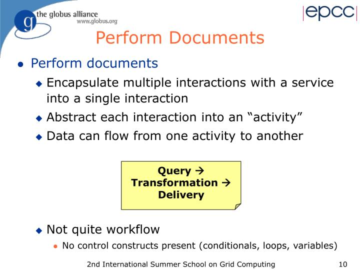 Perform Documents