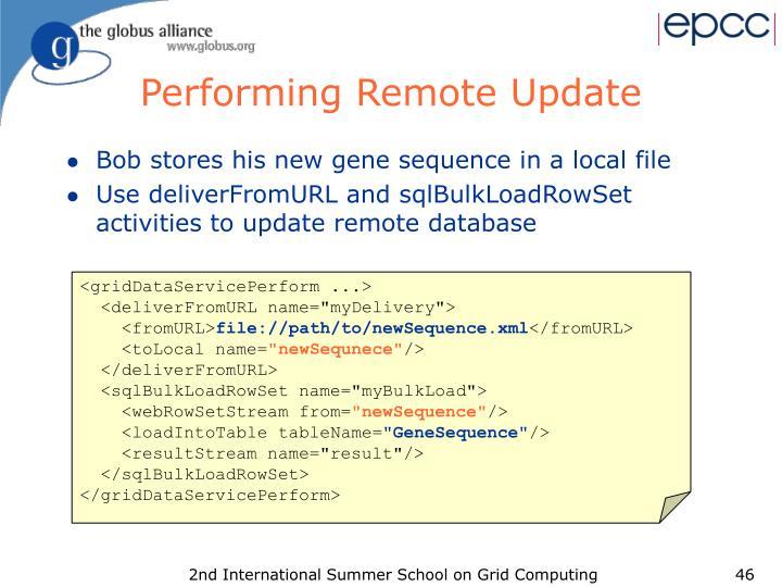 Performing Remote Update