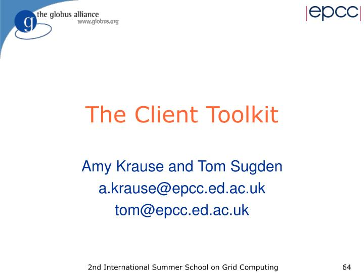 The Client Toolkit
