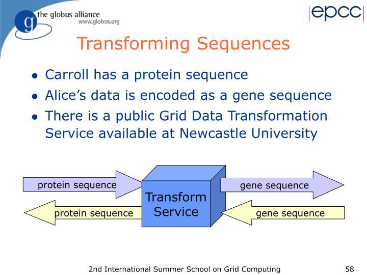 Transforming Sequences