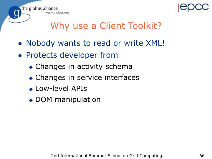Why use a Client Toolkit?