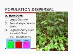 population dispersal