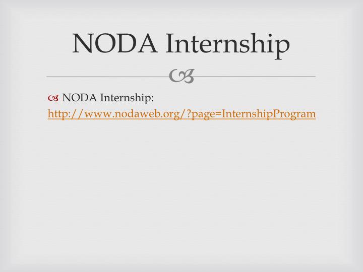 NODA Internship