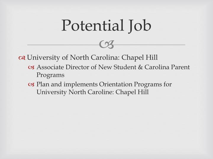 Potential Job