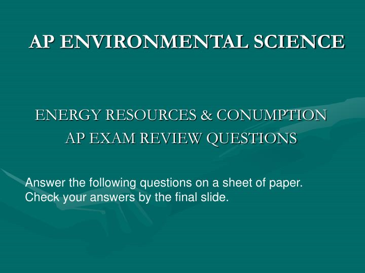 ap environmental science essay