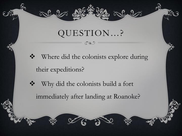 Question…?