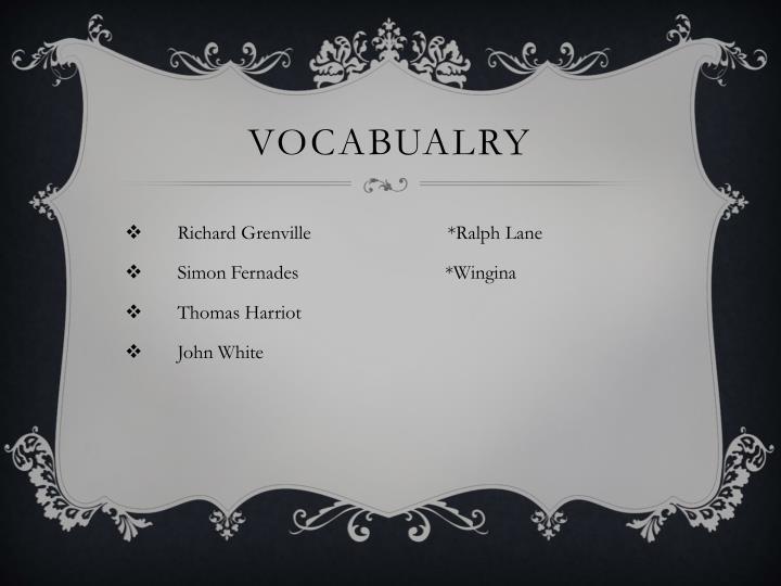 Vocabualry