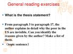general reading exercises1
