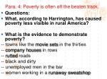 para 4 poverty is often off the beaten track
