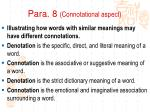 para 8 connotational aspect