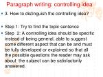 paragraph writing controlling idea3