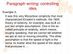 paragraph writing controlling idea6