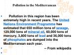 pollution in the mediterranean