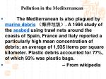 pollution in the mediterranean1