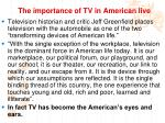 the importance of tv in american live