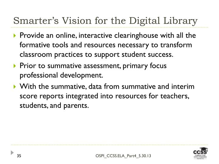 Smarter's Vision for the Digital Library