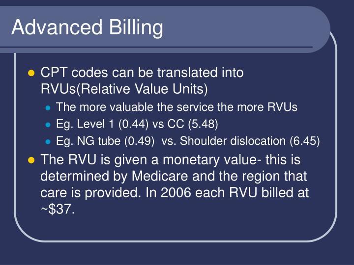 Advanced Billing