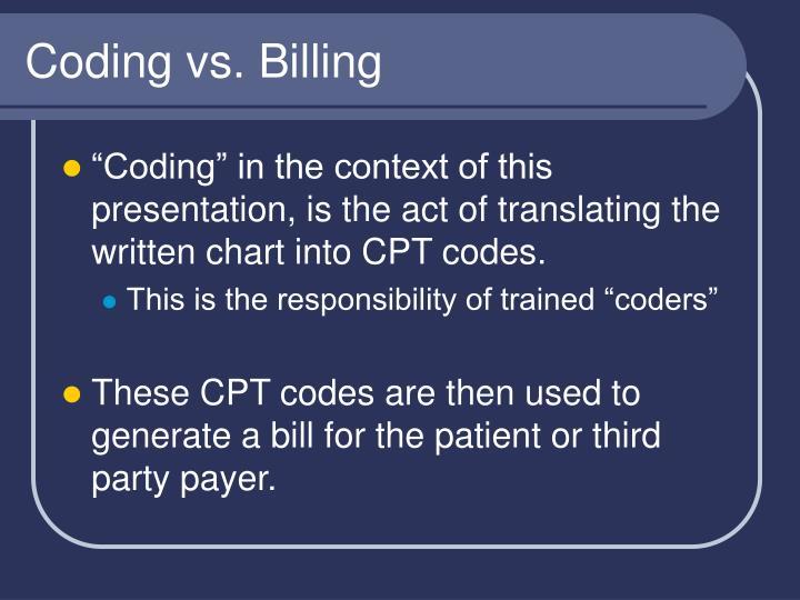 Coding vs. Billing