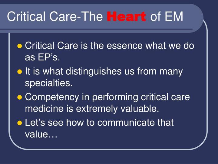 Critical Care-The