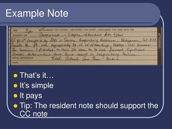 Example Note